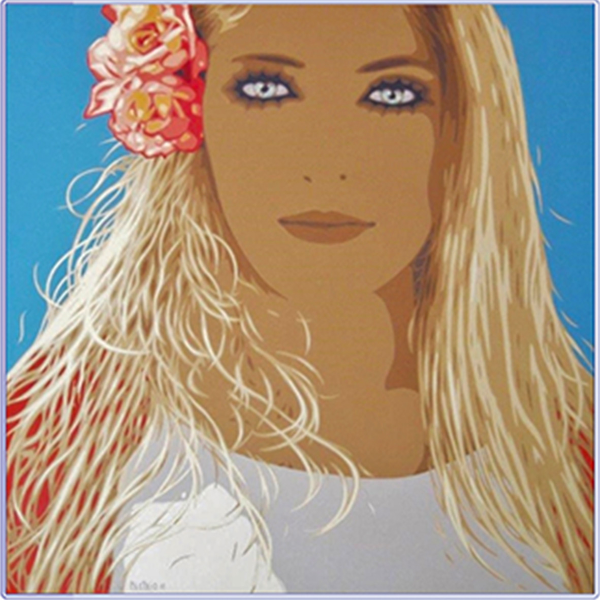 G. Meltzeid, 'Anna, la nuova modella', 2016, acrilico su tela, 90x90 cm. © l'artista