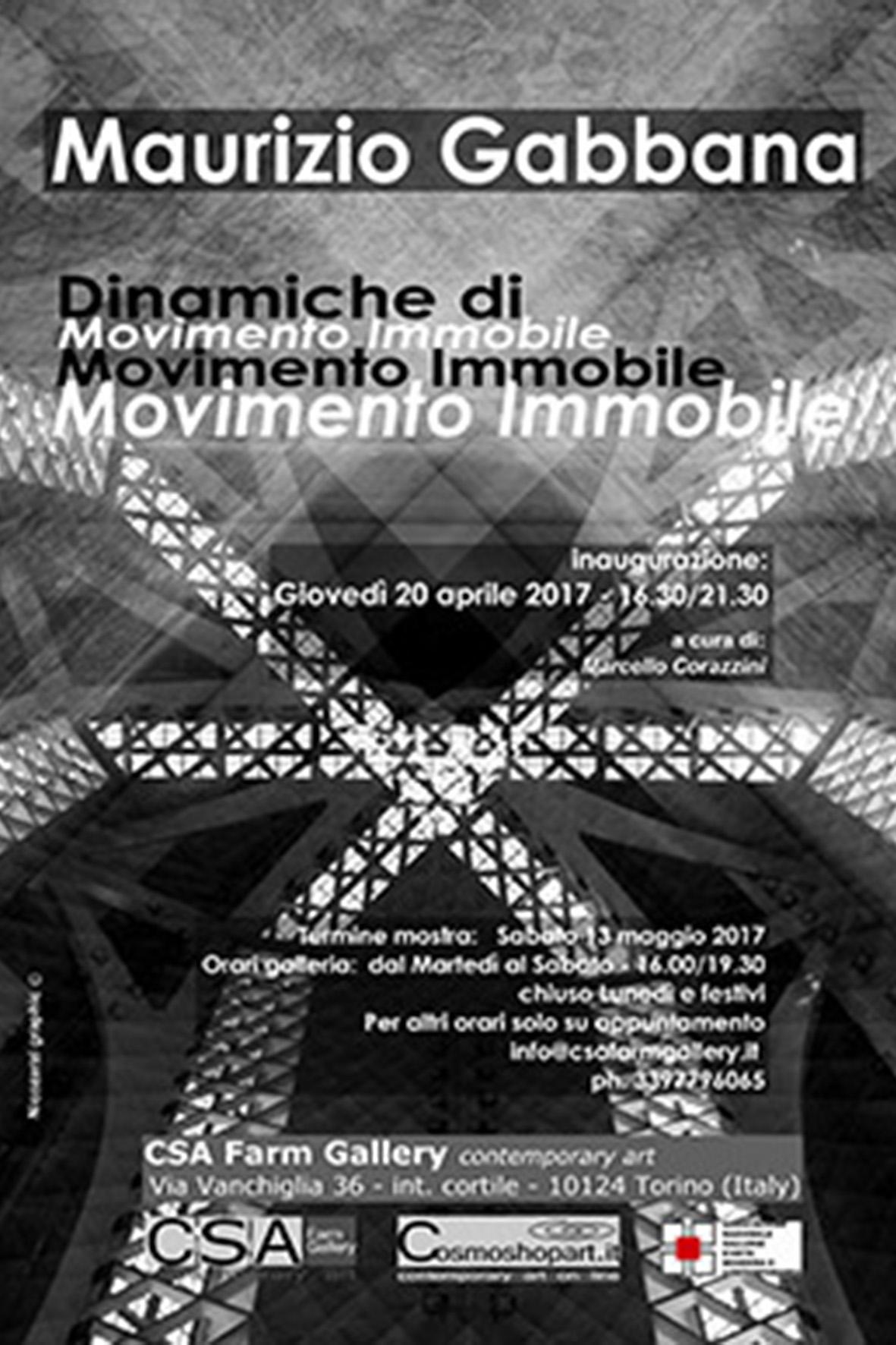 Maurizio Gabbana, 'Dinamiche di Movimento Immobile', 20/04-13/05/2017 © M.Gabbana/NicoZarzi/CSA