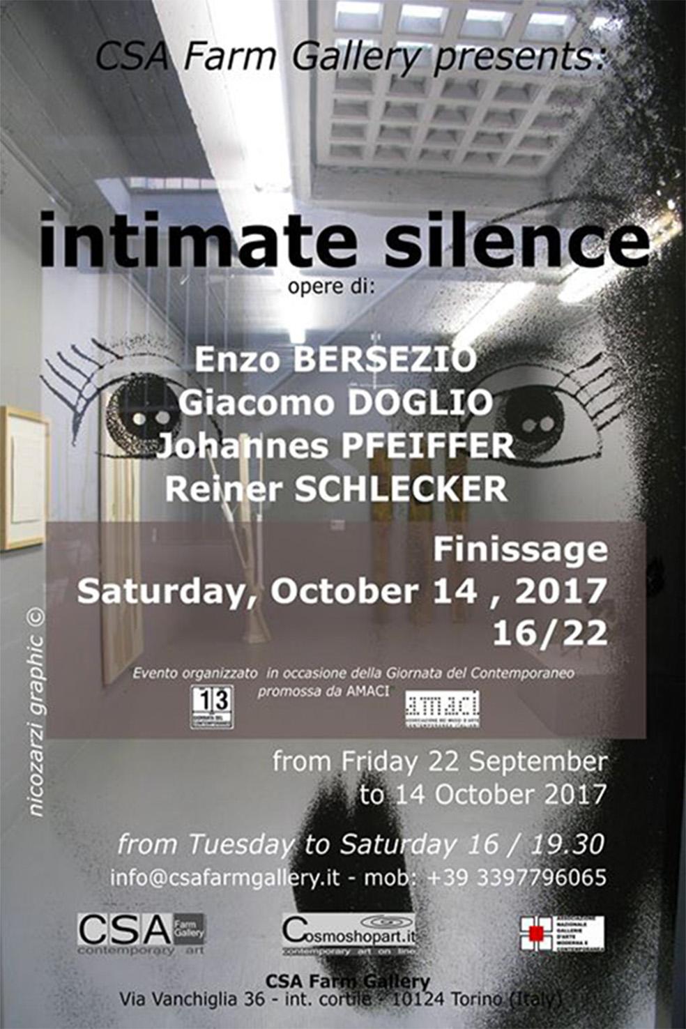 'Intimate silence', 22/09-14/10/2017 © NicoZarzi/CSA