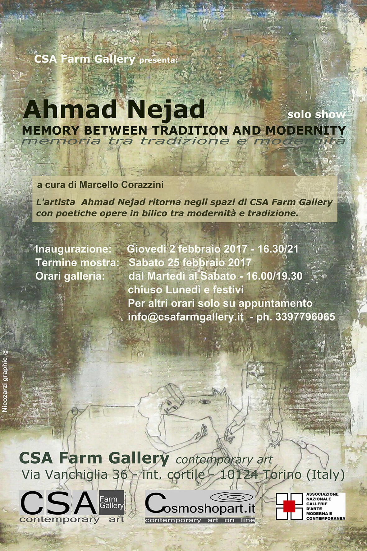 Ahmad Nejad, 'Memory between Tradition and Modernity', 2-25/2/2017 © A.Nejad/NicoZarzi/CSA