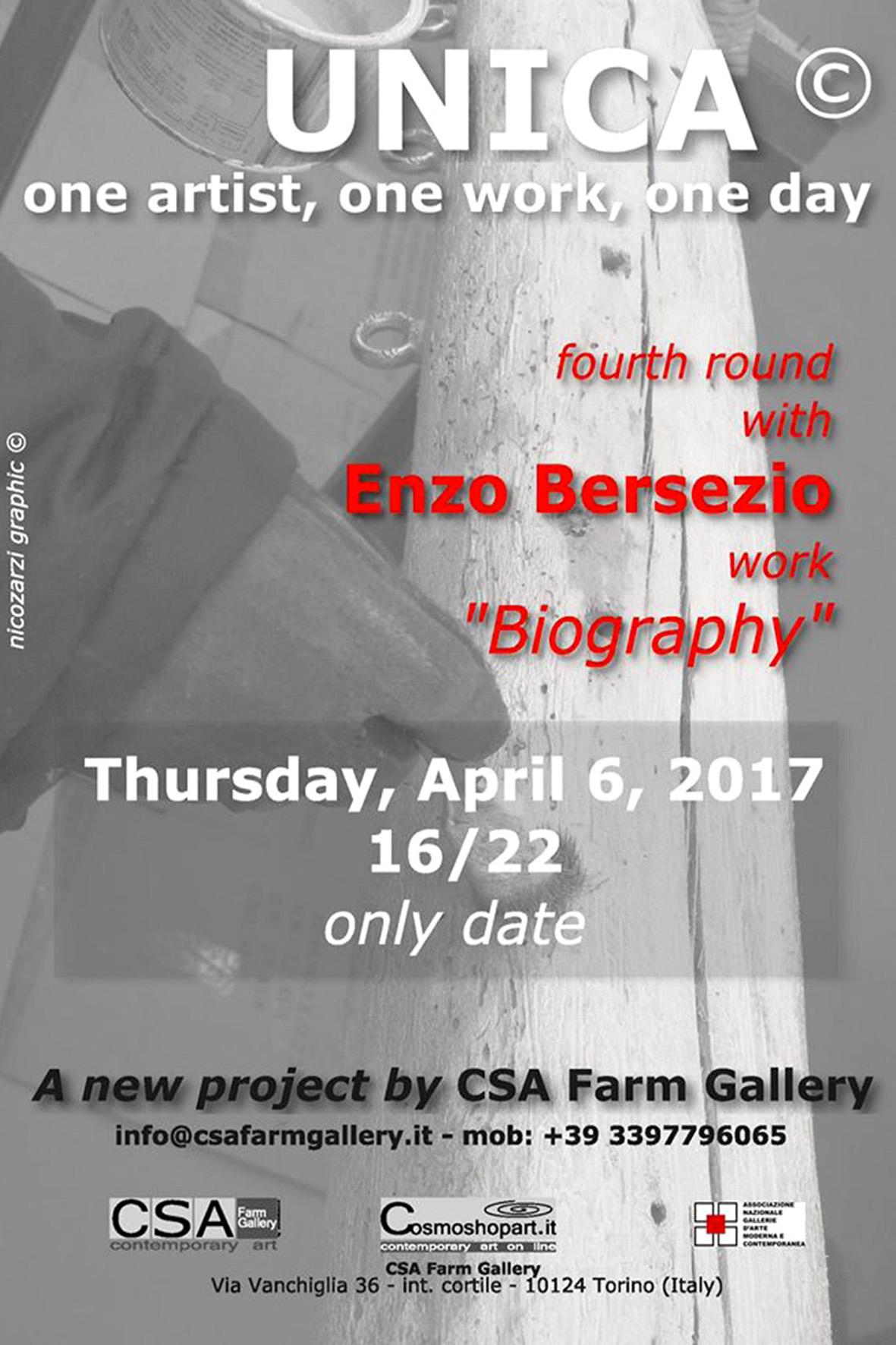 'Unica', Enzo Bersezio, 06/04/2017 © E.Bersezio/NicoZarzi/CSA