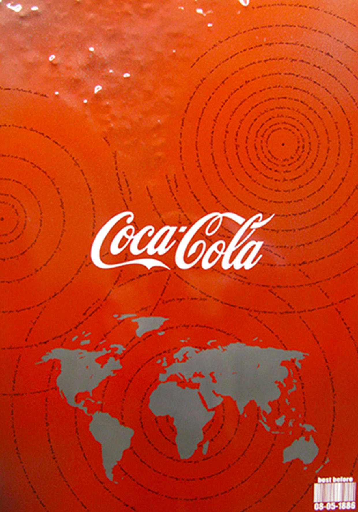 Christian Costa, 'Mondo ammaccato, Coca-Cola', 2016, acciaio inox, 70x50 cm. © l'artista/CSA/FuoriCentro