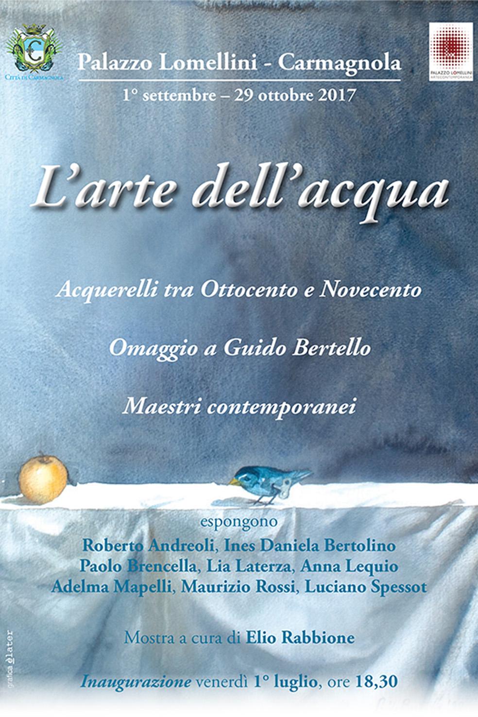 'L'arte dell'acqua', Palazzo Lomellini - Carmagnola - 01/09-29/10/2017 © Palazzo Lomellini / Comune di Carmagnola / Elater