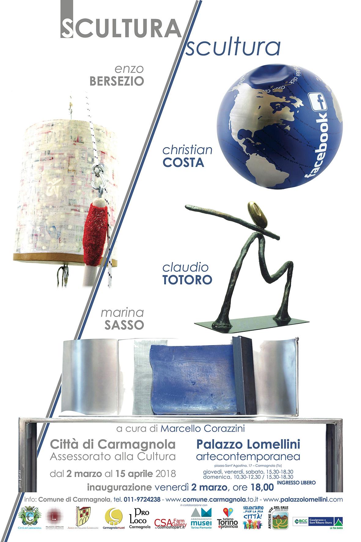 'SCULTURA/scultura', Palazzo Lomellini - Carmagnola - 02/03-15/04/2018 © Palazzo Lomellini / Comune di Carmagnola / CSA / Elater