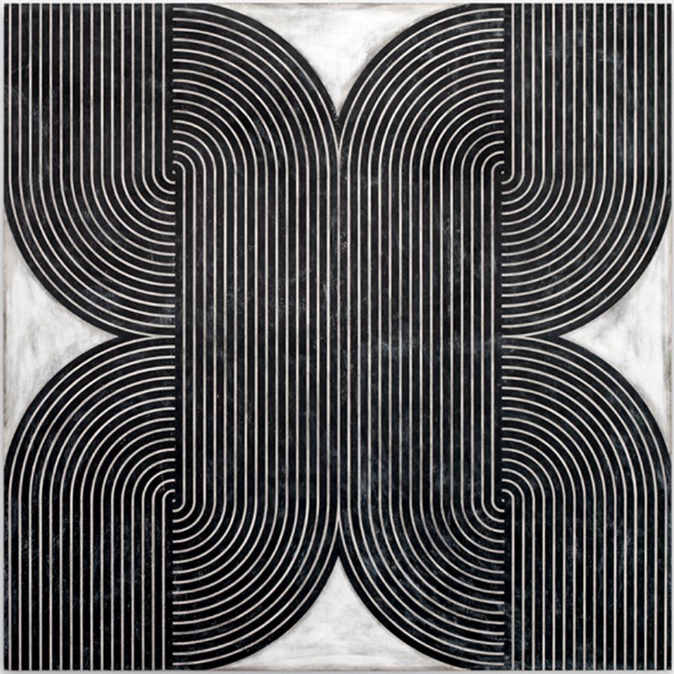 D. Balliano, 'Untitled', 2016, intonaco, gesso e lacca su legno, 182,5x182,5 cm. © l'artista/LuceGallery