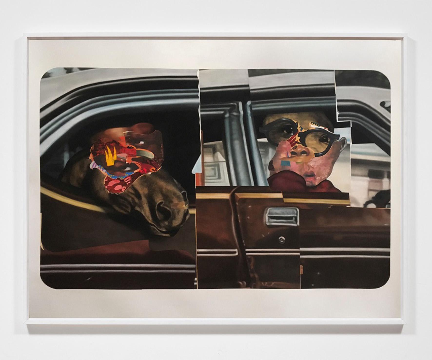 N.M. Quinn, 'St. Marks, Terry', 2016, dipinto a tecnica mista, in esposizione alla Luce Gallery di Torino © aut./LuceGallery