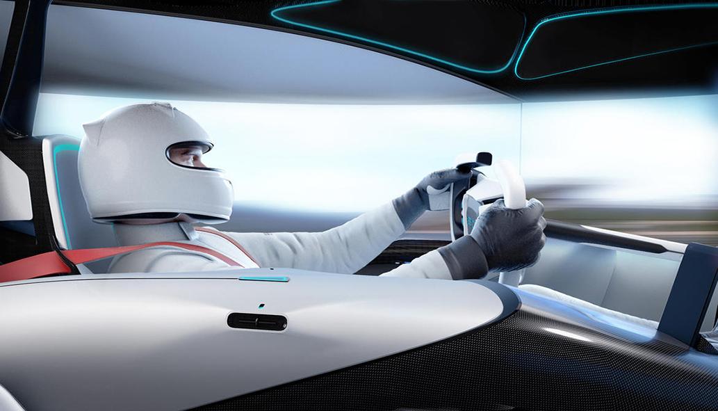 il futuristico ipertecnologico posto-guida della concept-car ED 'Torq', foto © aut./ED