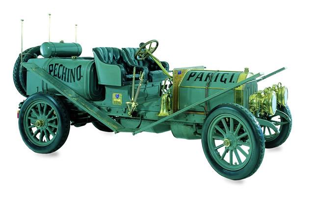 La Itala 35/45 HP con la quale Scipione Borghese vinse il raid Pechino-Parigi 1907, foto © aut./MAUTO