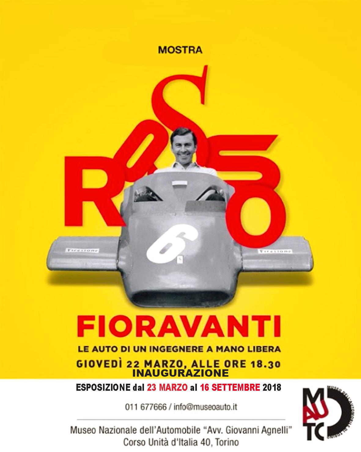 'Rosso Fioravanti, Le auto di un ingegnere a mano libera', dal 23 marzo al 16 settembre 2018, la mostra, con inaugurazione giovedì 22 marzo, alle ore 18,30 © MAUTO/Fioravanti