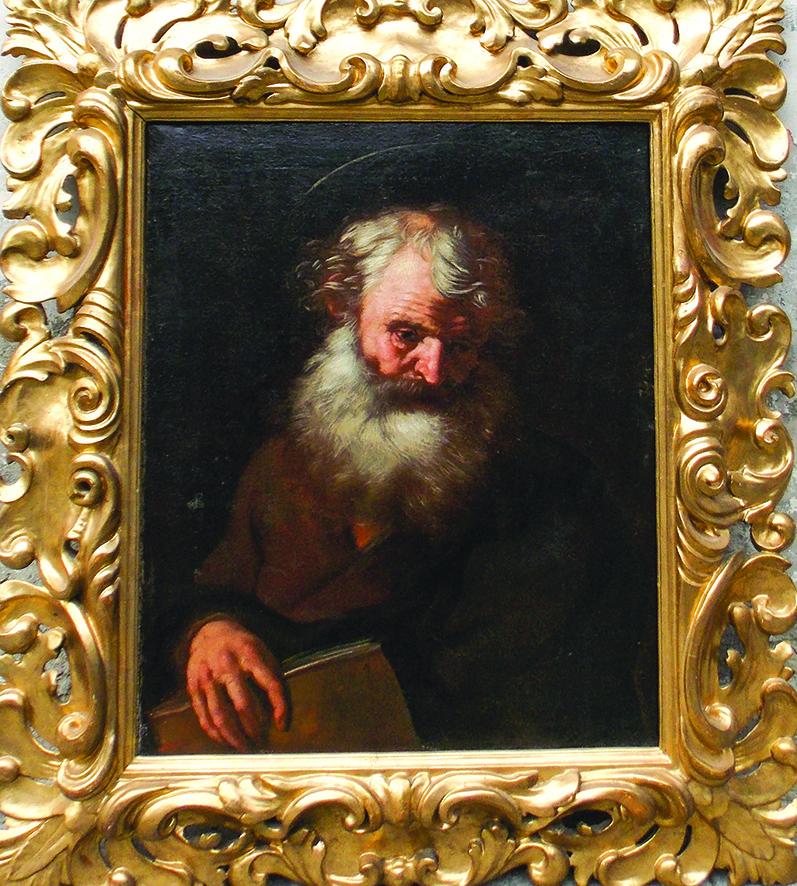 Giovanni Serodine (1594/1600-1630), 'San Pietro' o 'Santo con libro', olio su tela, 78x63 cm., Collezione R. Rubiola, foto di C. Massarente ©