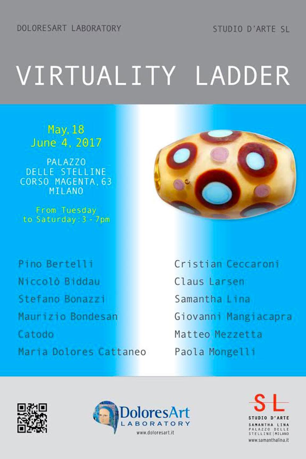 'Virtuality Ladder', mostra collettiva, DoloresArt, Studio SL, Palazzo delle Stelline, Milano, 18/05-04/06/2017 © SL