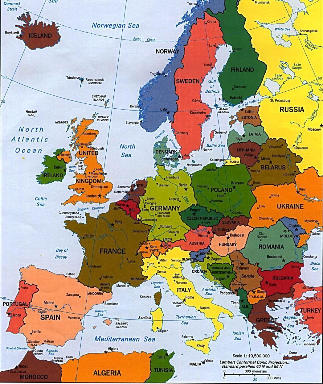 Cartina Politica Dell Europa Con Le Capitali.Civico20 News Se L Europa Provasse A Giocare All Inglese